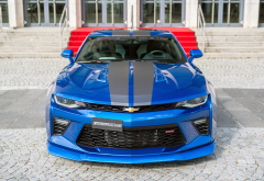 chevrolet camaro, cars, blue car, chevrolet wallpaper