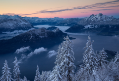 nature, switzerland, alps, mountains, winter wallpaper