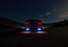 ford, road stops, speed, cars, night wallpaper