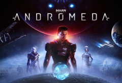 mass effect: andromeda, poster, bioware, video games, space, planet, mass effect wallpaper