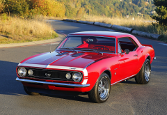 chevrolet camaro ss, cars, red chevrolet camaro, chevrolet wallpaper
