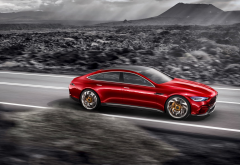 mercedes-amg gt concept, mercedes-benz, mercedes, cars, speed, road wallpaper