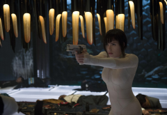 ghost in the shell, movies, the major, scarlett johansson, actress, women, gun, brunette wallpaper