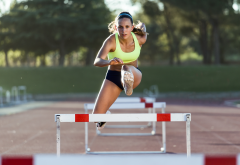 girl, sport, running, hurdling, women wallpaper
