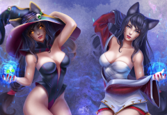 league of legends, ahri, mistress, art, anime, games wallpaper