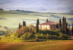 Tuscany, Italy, nature, landscape, house, dreams wallpaper