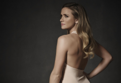 shantel vansanten, long hair, celebrities, actress, women, back, dress wallpaper