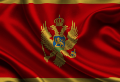 montenegro, flag, flag of montenegro wallpaper