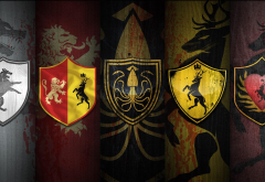 game of thrones, fantasy, house sigils, house colors, movies, war of the five kings, ice and fire wallpaper