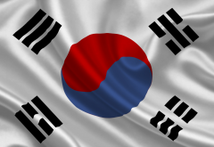 south korea, flag, south korean flag wallpaper