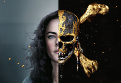 pirates of the caribbean: dead men tell no tales, pirates of the caribbean, skull, kaya scodelario, movies, actress wallpaper