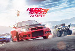 need for speed payback, video gamed, helicopter, nissan gt-r, nissan, bmw wallpaper