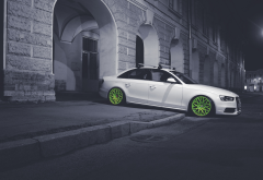 audi, cars, city, night, tuning, audi a4 wallpaper