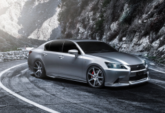 supercharged, lexus gs 350 f-sport, lexus gs 350, cars, lexus, mountains wallpaper