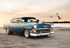 1956 chevrolet bel air sport coupe, chevrolet bel air, cars, chevrolet, retro cars wallpaper