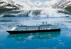ship, cruise ship, sea, mountains, glacier, holland america line, antarctica wallpaper