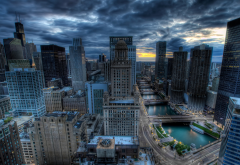 Chicago, cityscape, hdr, skyscrapers, usa, city, Illinois wallpaper