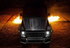 mercedes-benz, supercar, fire, mercedes g65, cars wallpaper