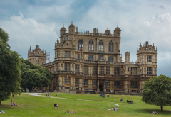 england, wallaton hall, deer park, wayne manor, grass, nature, city wallpaper
