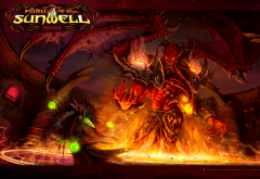 video games, digital art, world of warcraft, blizzard, fire, devil wallpaper