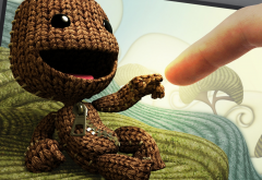 video games, little big planet, happy, sackboy wallpaper