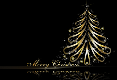 digital art, reflection, christmas tree, christmas, new yera, holidays, merry christmas wallpaper