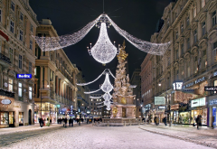 vein, street, christmas, austria, city, holidays wallpaper