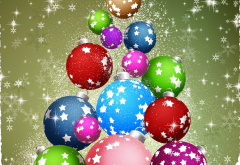 toys, balls, snow, christmas, new year, holidays wallpaper
