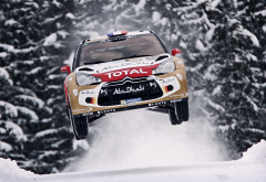 citroen ds3, rally, wrc, citroen, cars, racing, speed, flight, snow, winter wallpaper