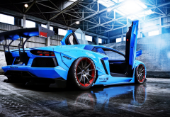 lamborghini aventador, liberty walk, lamborghini, cars wallpaper