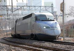 korea train express, ktx, train, paths, buildings, korea wallpaper