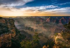 grand canyon national park, nature, landscape, sky, mountains, rocks, horizon, grand canyon wallpaper