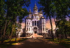 kharkov, ukraine, city, park, church wallpaper