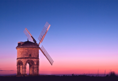 chesterton windmill, windmill, twilight, pink light, chesterton, warwickshire, england wallpaper