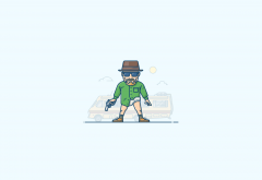 illustration, walter white, heisenberg, breaking bad, simple, minimalism wallpaper