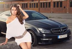 mercedes-benz, mercedes, cars, women, dress, brunette,  wallpaper