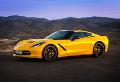 2019 corvette stingray, cars, yellow car, chevrolet corvette stingray, chevrolet, corvette wallpaper
