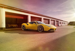 ferrari 488 gtb, ferrari 488, ferrari, cars, yellow car wallpaper