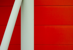 metal, red, white, simple, minimalism wallpaper