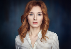 margarita petrusenko, redhead, model, women, face wallpaper