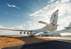 airplane, aviation, aicraft, clouds, stratolaunch systems wallpaper