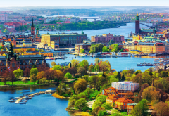 stockholm, city, sweden wallpaper