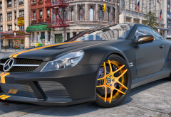 mercedes-benz sl65 amg v12, mercedes-benz sl65, mercedes, cars, graphics wallpaper