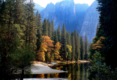 usa, nature reserve, yosemite, nature, landscape, mountains, tree, forest, lake, river, california wallpaper