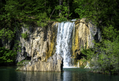 croatia, park, waterfall, national park, rock, nature, plitvice lakes wallpaper