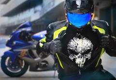 suzuki, hayabusa, rider, helmet, bike, motorcycle wallpaper
