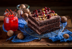 cake, nuts, food wallpaper