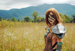 warrior, cosplay, women, skyrim, the elder scrolls, cosplay, aela, huntress, april gloria wallpaper
