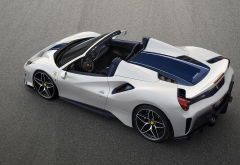 ferrari 488 spider pista, car, ferrari 488 spider, ferrari 488, ferrari, supecar, white car wallpaper
