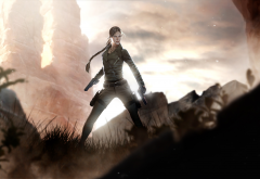 lara croft: tomb raider, women, girl, rendering, gun, lara croft, tomb raider, graphics wallpaper